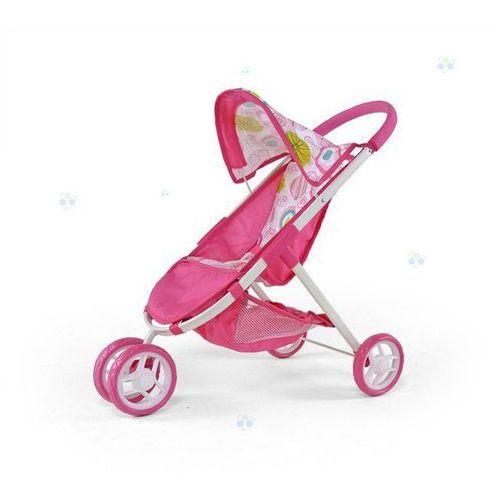 Wózek dla lalek Zuzia różowo-biały - oferta [05dbd243d31f1535]