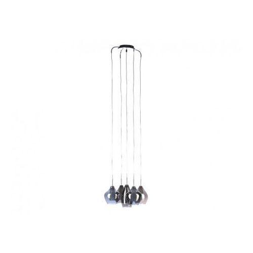 Azzardo amber milano 2285-5p lampa wisząca zwis 5x40w g9 chrom + żarówka led za 1 zł gratis! (5901238407225)