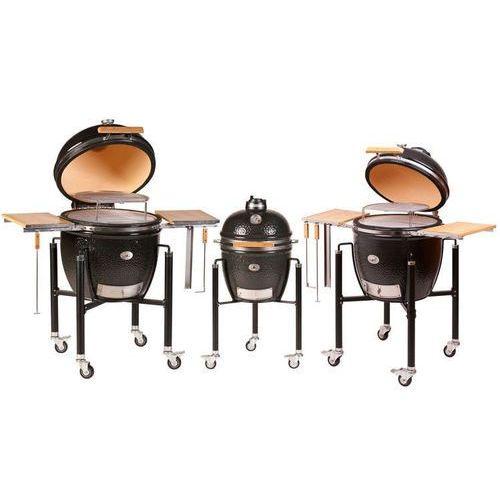 Grill ceramiczny Monolith DUŻY ZESTAW, czarny, ruszt 46 cm - oferta [75dcd246e33fb20f]