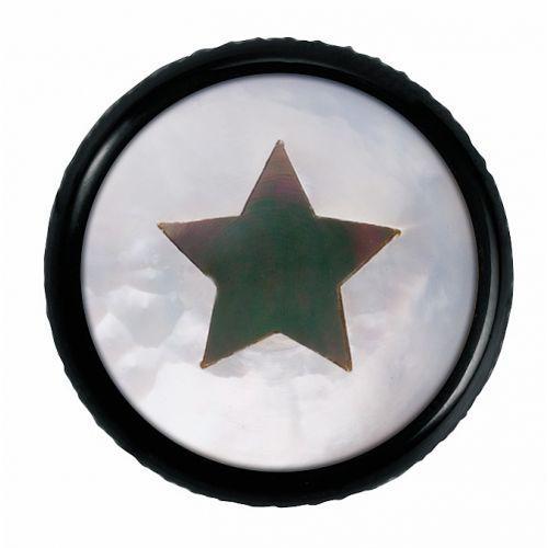 Warwick regler knopf,rund 6mm,1,2,3 star,sw gałka potencjometru, round 6mm,1,2,3 star, bk