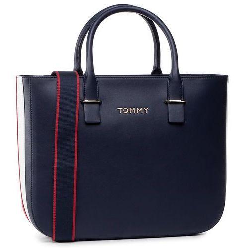 Tommy hilfiger Torebka - tommy staple satchel aw0aw07990 cjm