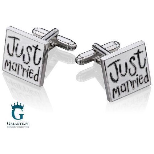 Spinki do mankietów Just Married dla Pana Młodego Ślub i Wesele SH-1000, SH-1000/291