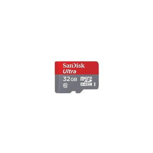 Karta SANDISK MicroSD 32GB Ultra + Zamów z DOSTAWĄ PRZED MAJÓWKĄ! - produkt z kategorii- Pozostałe akcesoria do kamer cyfrowych