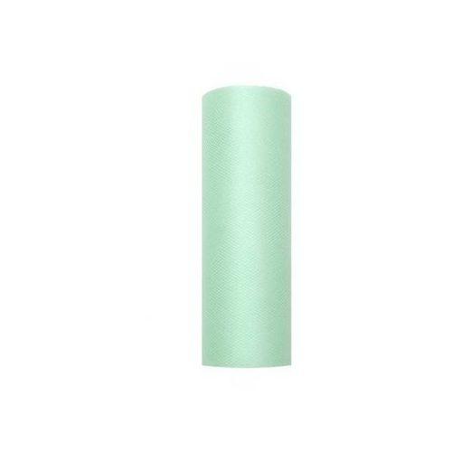 Tiul gładki miętowy - 15 cm x 9 metrów - 1 szt. - 103 (5901157451750)
