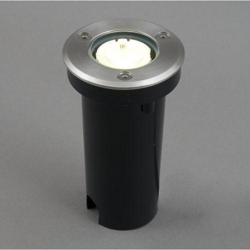 Najazdowa LAMPA ogrodowa OPRAWA LED MON outdoor Nowodvorski 4454 satyna LED IP67 - produkt dostępny w MLAMP.pl - Rozświetlamy Wnętrza