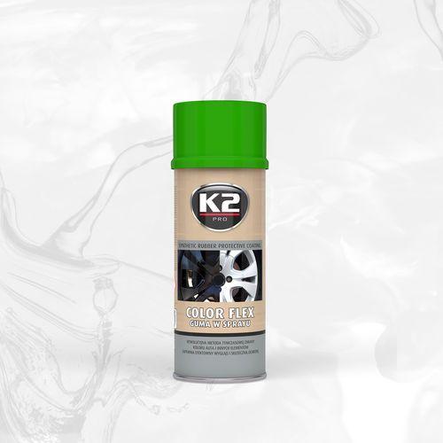 Color flex guma w sprayu - jasna zieleń syntetyczna powłoka gumowa w sprayu marki K2