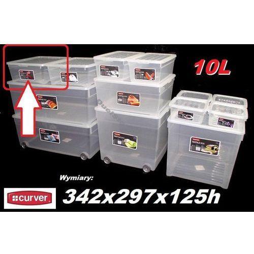 CURVER 10L 196063 pojemnik magazynowy z pokrywą 342x297x125h - sprawdź w organizery.eu