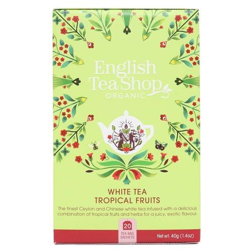 Biała herbata tropical fruits 20x2 g bio 40 g p marki English tea sho