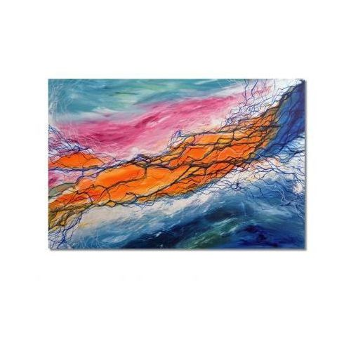 Burza, abstrakcja, nowoczesny obraz ręcznie malowany (obraz)