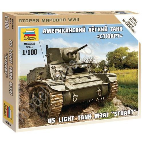 ZVEZDA US light tank M3A 1 'Stuart' - Zvezda