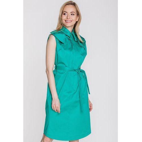 a5007f4b80 Kossmann Zielona sukienka z bawełnianej satyny - 899