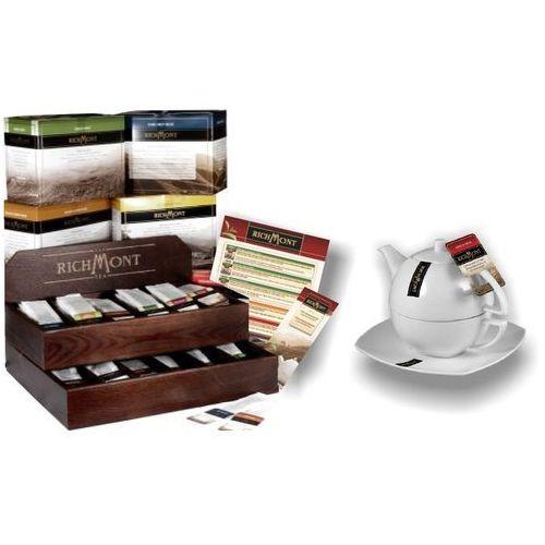 Zestaw Richmont: Herbata, zestaw do parzenia herbaty, karty menu, drewniany prezenter | RICHMONT, DP