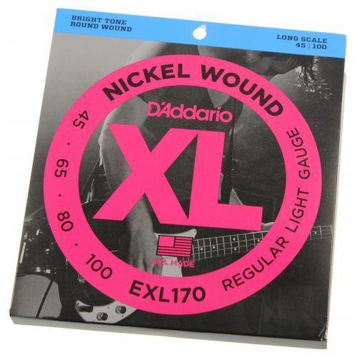 D′addario exl 170 struny do gitary basowej 45-100