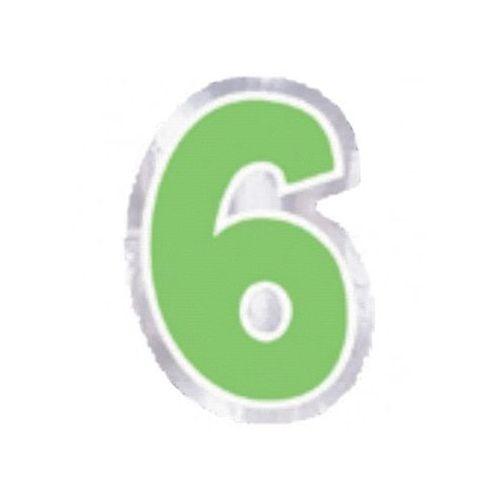 "Amscan Naklejka na balon, cyfra ""6"" - 6 szt"