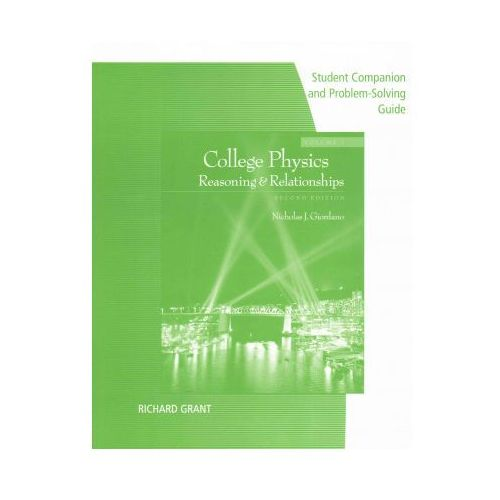 Student Companion with Problem Solve for Giordano's College Physics, Volume 1, 2nd