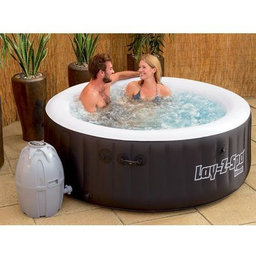 Beliani Przenośny nadmuchiwany basen z hydromasażem, podgrzewana woda - lay-z-spa - miami