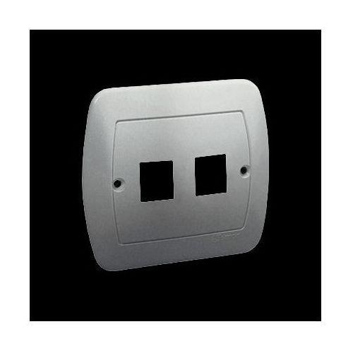Kontakt-simon Pokrywa do gniazd teleinformatycznych. montaż do puszki na wkręty; aluminiowy