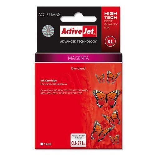Activejet tusz acc-571mnx / cli-571m xl (magenta) szybka dostawa! darmowy odbiór w 20 miastach! (5901443103189)