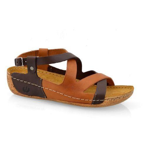 Sandały Lemar 225 bf czek+brąz