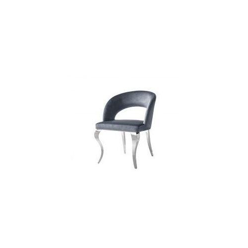 Krzesło glamour Anatole Dark Grey - nowoczesne krzesło tapicerowane, kolor szary