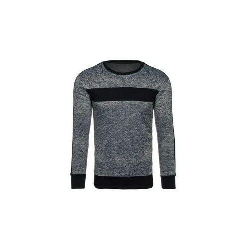 Bluza męska bez kaptura grafitowa denley dd29 marki J.style