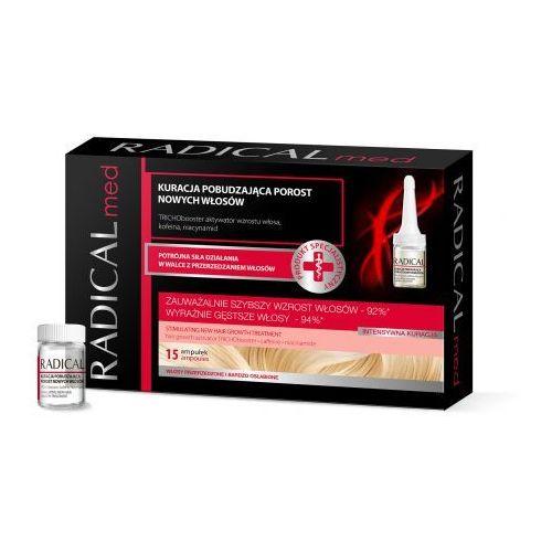 Ideepharm Radical Med Radical Med kuracja pobudzająca porost nowych włosów (TRICHObooster, Caffeine, Niacinamide) 15x5 ml