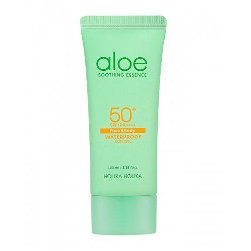 Holika holika krem przeciwsłoneczny spf50++++ do twarzy i ciała z ekstraktem z aloesu, aloe waterproof sun gel spf50++++ 100ml (8806334375997)