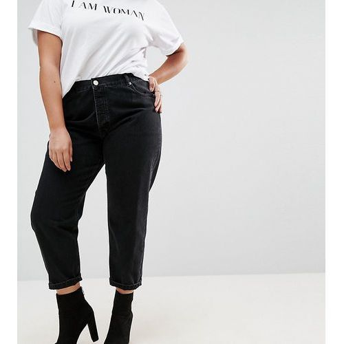 ASOS DESIGN Curve Florence authentic straight leg jeans in washed black - Black, proste