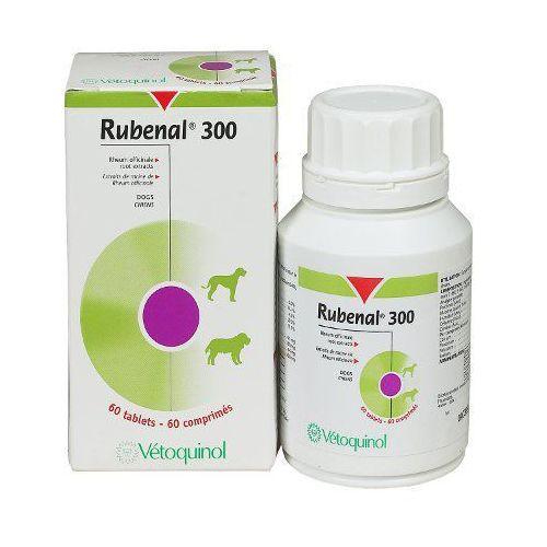 Vetoquinol Rubenal 300mg. Wspomagający funkcje nerek dla psów i kotów 20/60tabl. (witaminy dla psów)