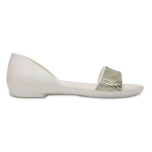 Crocs Buty lina embellished 204361 oyster - perłowy   white   biały