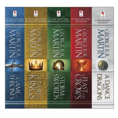 A Song of Ice and Fire, 5 Vols. (5216 str.)