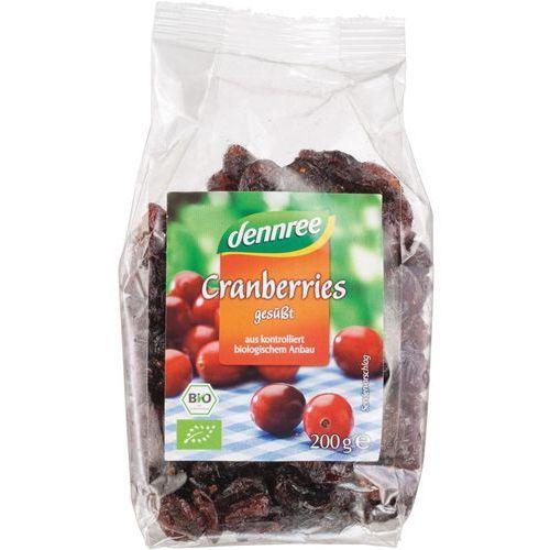 Żurawina suszona słodzona sokiem jabłkowym bio 200 g dennree marki Dennree (dżemy, miody, herbaty)