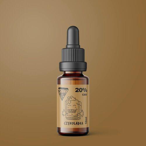 Olej CBD CannaBeFit 20% 2000mg 10ml Czekoladowy (5903968698096)