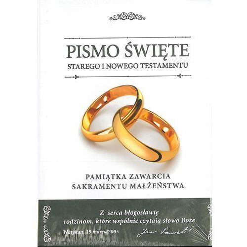Biblia Domowa 2017 Pamiątka Ślubu (wersja D) - ks. bp. Romaniuk Kazimierz (9788380432666)