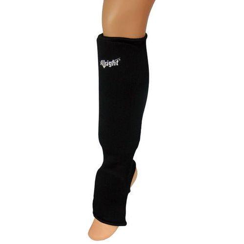 Nagolennik Allright z osłoną stopy elastyczny, bawełna czarny (2010000377062)