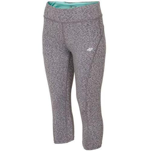 Damskie spodnie leginsy sportowe spdf001 jasny szary m marki 4f