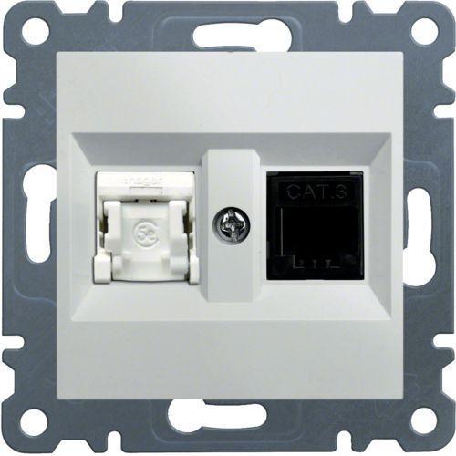 Hager Gniazdo komputerowo-telefoniczne rj45+rj11, białe lumina2 wl2210