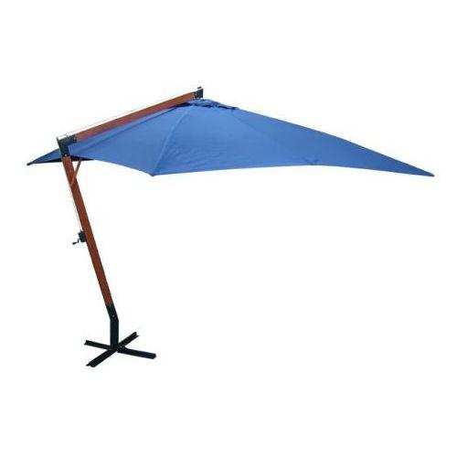Parasol ogrodowy, 300x400cm, niebieski, vidaXL z VidaXL