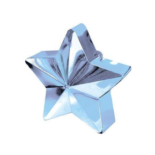 Amscan Obciążnik ciężarek do balonów napełnionych helem - gwiazda błękitna - 170 g. (0048419246879)