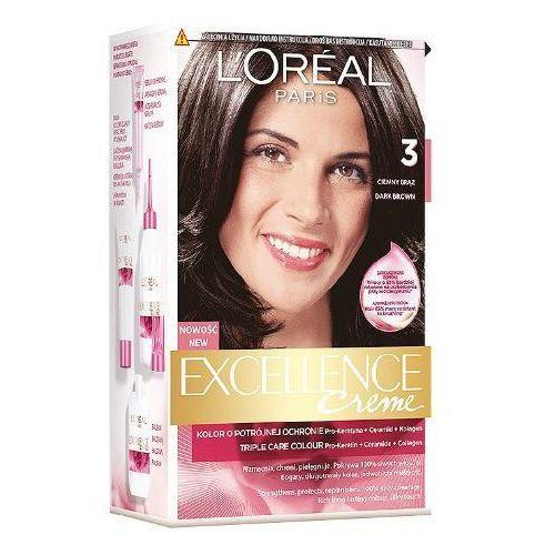 L'OREAL Excellence Creme farba do wlosow 3 Ciemny Braz (koloryzacja włosów)