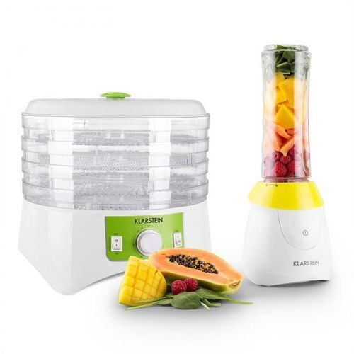 Klarstein paradise zestaw: minimikser + suszarka do owoców i warzyw bez bisfenolu (bpa)