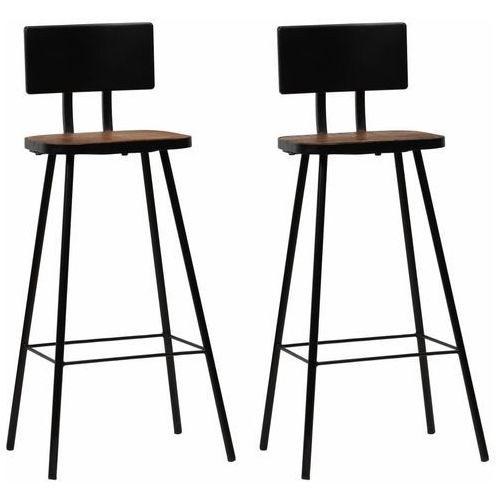 Krzesła barowe, lite drewno z odzysku, ciemny brąz, 2 szt. marki Vidaxl