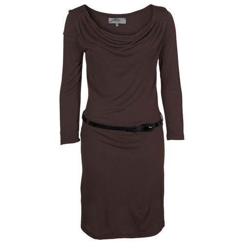 Zalando Essentials Sukienka z d�erseju br�zowy