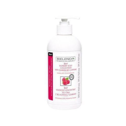 professional, 2in1 raspberry body concentrate. 2w1 malinowy koncentrat do ciała z bio - kofeiną z guarany, 450ml - bielenda professional marki Bielenda