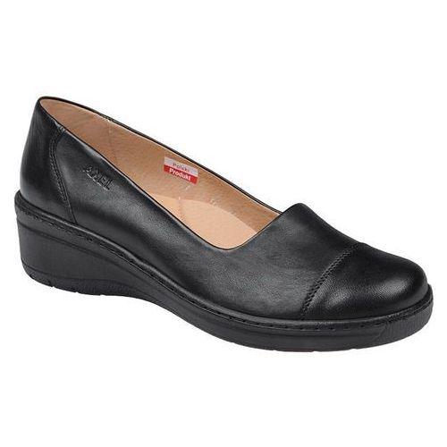 Półbuty comfort 1601 czarne na haluksy buty na koturnie, Axel