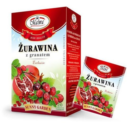 Malwa sunny garden herbata żurawina z granatem 20t marki Herbaty malwa