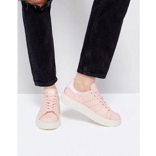 originals pale pink stan smith bold sole trainer - pink, Adidas