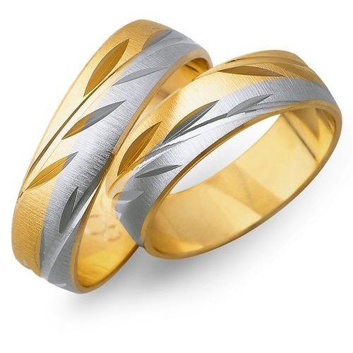 Obrączki z żółtego i białego złota 6mm - O2K/060 - produkt dostępny w Świat Złota