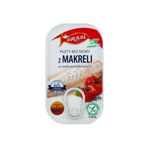 Filety bez skóry z makreli w sosie pomidorowym bezglutenowe (5903895000016)