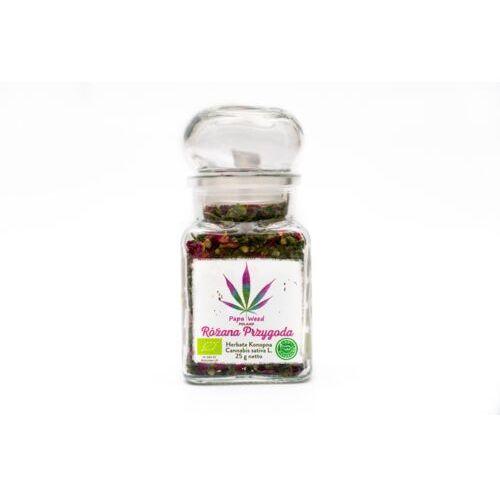Papaweed Herbata konopna eko róża susz cbd szkło 25g